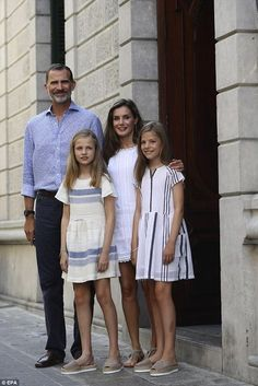 The royals arrived at their summer home of the Marivent Palace in Palma on Monday and will...