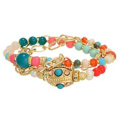 Gold Tone Wrap Bracelet Featuring Multicolored Bead Decor J and D Jewelry and More http://www.amazon.com/dp/B00RNLGS6O/ref=cm_sw_r_pi_dp_BGTMvb0AJW4CT  OR www.JandDJewelryandMore.com