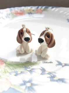 Beagle earringspolymer clay earringsfimodog