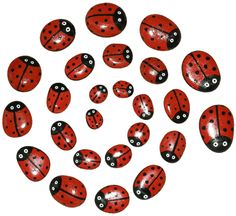 Galets coccinelle - rock painting. Other inspiration, for nail... =)