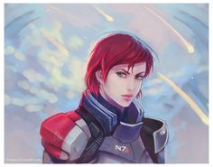 Commander Shepard by Linnpuzzle on deviantART. I know this is so common, but this was my Shepard. Great representation.