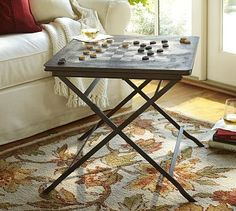 Carter Game Side Table #potterybarn