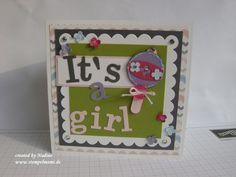 Babykarte Stampin Up Baby Card Girl Maedchen Zur Geburt