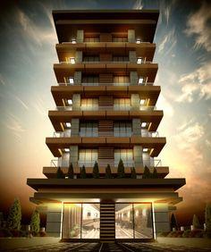 Ideas for apartment building exterior facades architecture Condo Design, Design Apartment, House Front Design, Residential Building Design, Building Exterior, Facade Architecture, Residential Architecture, Facade Design, Exterior Design