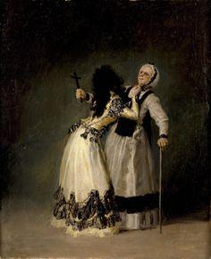 """Francisco de Goya y Lucientes - """"La duquesa de Alba y su dueña"""""""