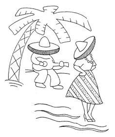 Coloring page of sombrero Mexican hat, printable fiesta