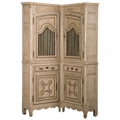 Antique French Louis XV Period Painted and Carved Corner Cabinet circa 1740 Antique Furniture, Cool Furniture, Painted Furniture, Modern Furniture, Furniture Storage, Shop Cabinets, Upper Cabinets, Corner Cabinets, Buffet