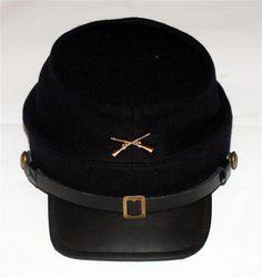 sneakers for cheap af524 f33b3 UNION ARMY CAVALRY Civil War CROSSED RIFLES GUNS Dark Blue KEPI CAP HAT M  XL New