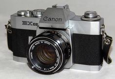 https://flic.kr/p/uG3H1k | Vintage Cannon EXEE 35 mm SLR Film Camera, Made In Japan, Has A Permanently Mounted Half Lens, Circa 1969 - 1973