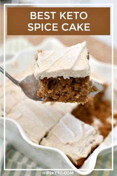 Best Ever Keto Spice Cake with Cream Cheese Frosting - Healthy Dessert Low Carb Sweets, Low Carb Desserts, Healthy Desserts, Dessert Recipes, Keto Recipes, Spice Cake Recipes, Diabetic Desserts, Healthy Cake, Skinny Recipes