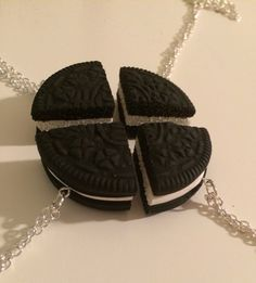 4 Piece Oreo Best Friend Necklace by JumpingForJewelry on Etsy, $26.99