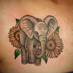 Baby Elephant Tattoo