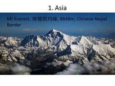 Week 15 Science- Highest Mountains