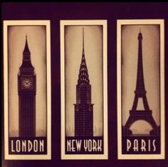 We will travel together in the years to come. You can show me what your favorite spots in London and Paris were and I can show you my favorite areas in New York.