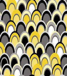 Fabric Central Modern Mosaic Yellow & Black Ovals Bty : packaged quilt kits  : quilting fabric & kits : fabric :  Shop | Joann.com