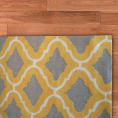 yellow grey rug