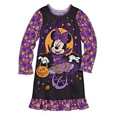 DISNEY Store NIGHTSHIRT for Girls MINNIE MOUSE HALLOWEEN WITCH Choose Size NWT