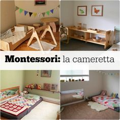 Montessori: the bedroom - Modern Montessori Bedroom, Montessori Baby, Big Girl Bedrooms, Girls Bedroom, Baby Sensory, Toy Rooms, Baby Play, Baby Room Decor, Kids House