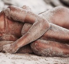 Love the feeling the sand stuck on my body! <3  #sea #sun #sand