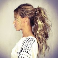 New hair updos high cute ponytails ideas Messy Ponytail Hairstyles, Formal Hairstyles For Long Hair, Cute Hairstyles, Casual Hairstyles, Beautiful Hairstyles, Ponytail Ideas, Latest Hairstyles, Hairdos, Hairstyle Ideas