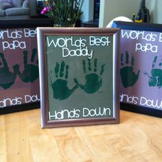 World's Best Dad - kids hand prints Fathers Day Crafts, Happy Fathers Day, Craft Activities, Preschool Crafts, Kids Crafts, Holiday Crafts, Holiday Fun, Baby Boys, Daisy