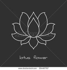 lotus flower. vector illustration - stock vector
