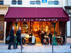 image - vicki archer As I am talking books about Paris, hotels and decor I thought you might also like this one, French Bistro: Sea. My Coffee Shop, Outdoor Rooms, Outdoor Decor, French Boys, Sidewalk Cafe, Window Awnings, Cafe Bistro, French Bistro, Paris Cafe