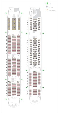 Lufthansa Airbus A380-800 Seating Chart | Airbus, Seating ...