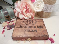 Southern Chic Rustic Wooden, Wedding Ring Pillow, Ring Bearer Box, We Do Box, FOR Rustic Wedding from AngisSouthernChic on Etsy. Ring Pillow Wedding, Wedding Ring Box, Wedding Ceremony, Wooden Ring Box, Wooden Rings, Rustic Wedding, Wedding Ideas, Wedding Decor, Wedding Stuff