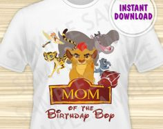 Lion Guard Iron On Transfer. Lion Guard Dad by KidsPartyBoutique