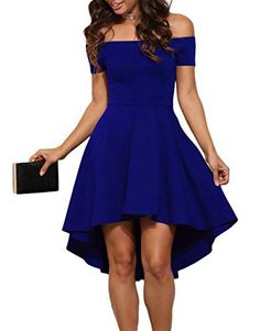New Trending Formal Dresses: JugPo Women Off Shoulder Short Sleeve High Low Skater Dress Blue Small. JugPo Women Off Shoulder Short Sleeve High Low Skater Dress Blue Small   Special Offer: $18.99      133 Reviews SIZE INFORMATION(INCH): Small : Bust 34-36 Waist 27-29 Hip 49-51 Length 29-36 Medium : Bust 36-38 Waist 29-31 Hip 51-53 Length 30-37 Large : Bust 38-40 Waist 31-33 Hip 53-55...