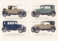 Los Chevrolet de 1928 y sus precios. Chevrolet prices in Spain.