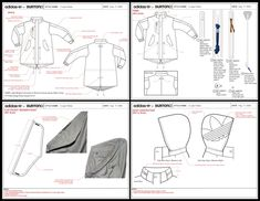 fashion tech pack with informative visuals of details Flat Drawings, Flat Sketches, Dress Sketches, Fashion Sketchbook, Fashion Sketches, Drawing Fashion, Technical Illustration, Technical Drawings, Fashion Design Template