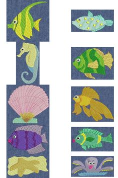 Free Embroidery Design: Fishies