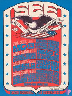 Classic Poster - MC5 at The See, Detroit, MI 6/30-7/4/67 by Gary Grimshaw