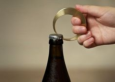 Brass Crescent Bottle Opener