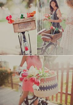 bike rides  market flowers with your best friend
