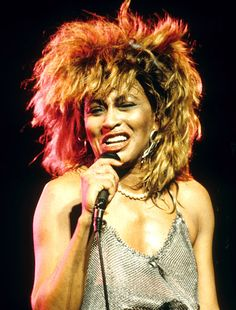 Tina Turner's gravity-defying spiky hair
