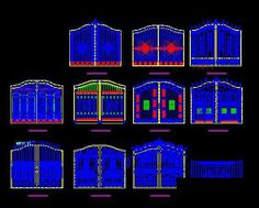 Cad drawings of ancient buildings door,Free Autocad Drawing, Cad Blocks