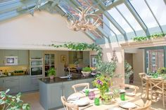 A kitchen/diner conservatory extension on a listed Georgian cottage by Alitex -.my summer kitchen Conservatory Dining Room, Conservatory Extension, Cottage Extension, Conservatory Design, Orangery Extension Kitchen, Garden Room Extensions, House Extensions, Kitchen Extensions, Beautiful Kitchens