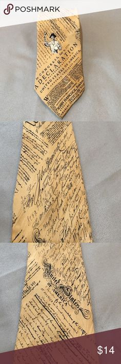 We The People Constitution Tie We The People Constitution Tie. Gently used. 100% silk. Tan and black in color. Measures approx 61 inches long. Widest part is approx 3.75 inches wide. Museum Artifacts Accessories Ties