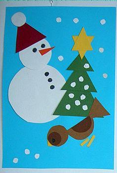 Мастер-класс: Новогодняя геометрия. Делаем новогодние открытки вместе с ребенком / Идеи для творчества с ребенком