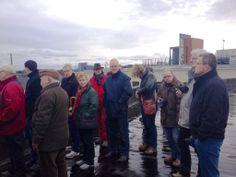 Vanaf het dak van Weller kijken naar de plaat (8 februari 2014)