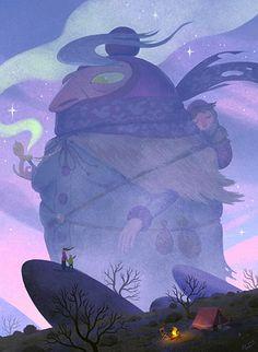 The Wandering Mother, an art print by Matt Rockefeller - INPRNT Art Et Illustration, Illustrations, Hayao Miyazaki, Fond Design, Ap Studio Art, Photoshop, Creature Design, Art Studios, Art Inspo