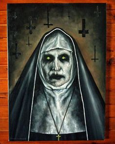 Valak the nun demon by Cleicha on DeviantArt Horror Drawing, Halloween Painting, Art Drawings, Demon Drawings, Movie Canvas Painting, Scary Paintings, Canvas Art, Canvas Art Painting, Canvas Painting