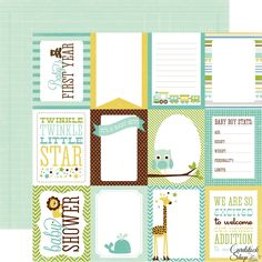 SMASH books journaling cards printable Baby Boy