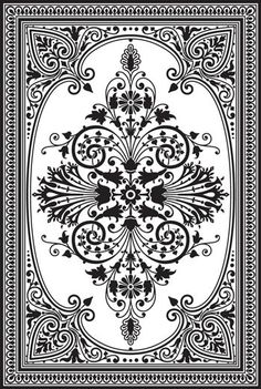 Decorative concrete patterns and stencils, supplies and workshops for creating decorative concrete effects for residential and commercial de. Stencil Patterns, Stencil Designs, Craft Robo, Mandala, Faux Painting, Grafik Design, Pyrography, Islamic Art, Damask