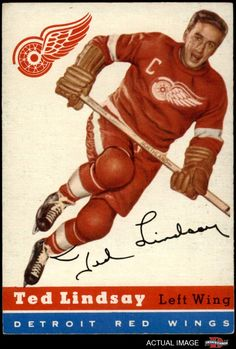 1954 Topps * 51 Ted Lindsay Detroit Red Wings Hockey Card Deans Cards 5 EX Red Wings ** You can find out more details at the link of the image-affiliate link. Hockey Girls, Hockey Mom, Hockey Teams, Hockey Players, Ice Hockey, Sports Teams, Boston Bruins Hockey, Pittsburgh Penguins Hockey, Chicago Blackhawks