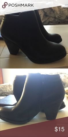 Black Mia Booties Never been worn, they've been sitting in my closet for a few months now. Super cute, I just never wear heels! MIA Shoes Ankle Boots & Booties