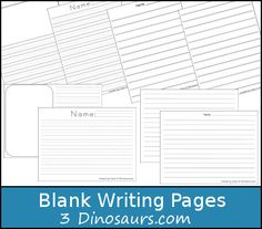 Free Blank Writing Page Printable 2nd Grade Writing, Kids Writing, Teaching Writing, Writing Activities, Writing Prompts, Writing Papers, Pre Writing, Preschool Activities, Homeschool Curriculum